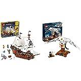 LEGO Creator Galeone Dei Pirati, Taverna E Isola Del Teschio, Set Da Costruzione 3In1 E Idea Regalo & Harry Potter Edvige, Set Da Costruzione, Modello Da Collezione Ed Esposizione Con Ali Mobili