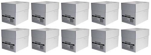 25.000 Blatt Profi Business economy Pack 10 Karton mit je 2.500 Seiten Blatt Pages Kopier- & Druckerpapier weiß A4 80g/m² für Laser- & Tintenstrahldrucker, Kopier und Fax, weiß (10, weiß)