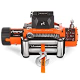Rhino 4x4 - Electric Winch 6125 Kg - Wireless Remote Control 12 V - Steel Cable