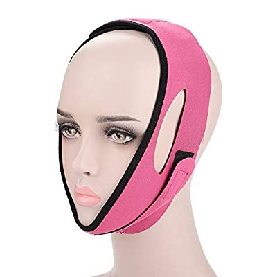 Thin Face Bandage, Double Chin Remover V-Line Face Shapes Chin Cheek Lift Up Facial Lifting Belt Face Massage Tool, Suitable for Women and Girls (3#)