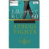 [アツギ] タイツ アツギ (Atsugi Tights) 60デニール 上品シャドーで美しく 60D 2足組 レディース FP90162P ブラック M-L(身長:150-165cm ヒップ:85-98cm)