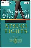 アツギ タイツ アツギ (Atsugi Tights) 60デニール 上品シャドーで美しく 60D 2足組 レディース FP90162P ブラック M-L(身長:150-165cm ヒップ:85-98cm)