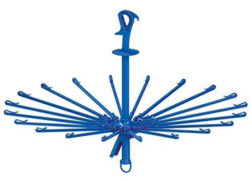 東和産業 洗濯物ハンガー ブルー 約φ78×49.5cm BCパラソルハンガーキャッチ式