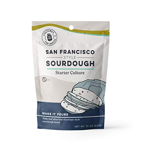 Cultures for Health San Francisco Sourdough Starter, Organic non-GMO, Natural Yeast, Makes Sourdough Bread, Pizza, Pancakes, Includes 1 Packet Of Starter