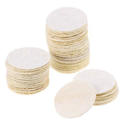 FRCOLOR 50 Piezas de Almohadillas de Lufa Exfoliante Reutilizable Removedor de Maquillaje Esponja Microfibra Lufa Almohadillas de Limpieza Facial Depurador de Baño para La Cara Lavado