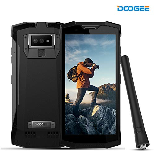 DOOGEE S80 Rugged Smatphone Unlocked Android 8.1 - Outdoor Walkie Talkie Phones 4G - 10080mAh 5.99 FHD+ Screen 6GB RAM+64GB ROM 16MP+5MP+12MP Camera NFC - Waterproof Unlocked Cell Phones - Black