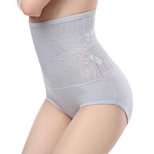 GuGio Women's Brief Underwear Tummy Control Panty High Waist Stretch Underpant
