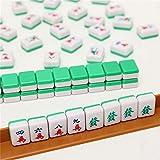 Sanji Mini Juego de Mahjong, Juegos de Mesa Tradicionales Chinos, Juguetes de Viaje portátiles, Juego Familiar Antiguo con Azulejos de Mahjong de 15 mm para 4 Jugadores
