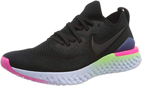 Nike Epic React Flyknit 2 Men's Running Shoe Black/Black-Sapphire-Lime Blast 12.5