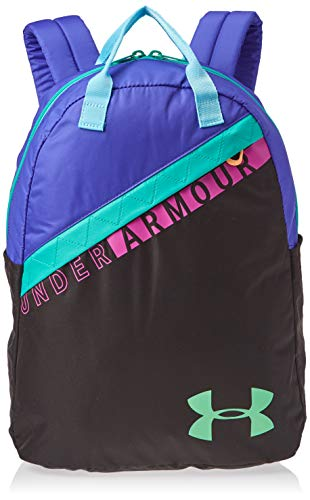 Under Armour Girls' Favorite Backpack 3.0 , Black (001)/Green Typhoon ,One Size Fits All