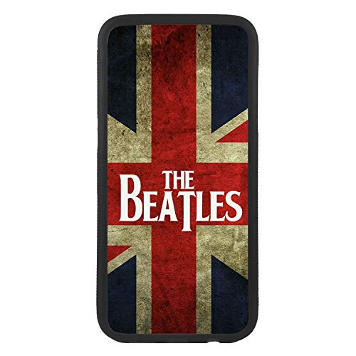 afrostore Funda Carcasa de móvil para Apple iPhone 7 Plus Grupo Beatles Bandera Reino Unido Pop Rock TPU Borde Negro