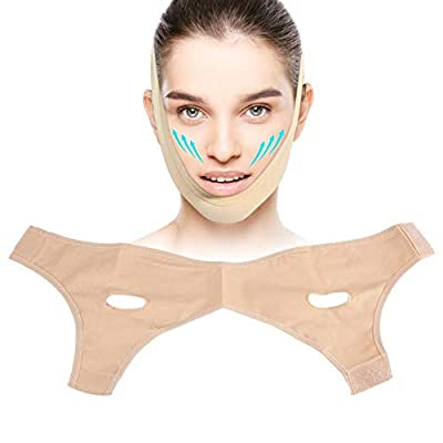 Face Shaper Slimming Chin, Anti Wrinkle Face Slimming Mask Lifting V Face Line Slim up Belt, Anti-Aging & Face Breathable Compression Chin Bandage, Unisex(L)