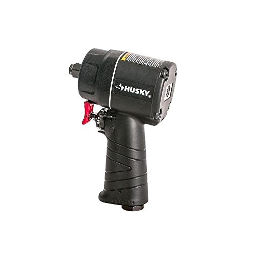 HUSKY H4435 1/2' Compact Impact Wrench Air Tool, Black