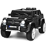Costzon Ride on Car, Licensed Mercedes-Benz Maybach, 12V Battery Powered Toy w/ 2 Motors, 2.4G Remote Control, 3 Speeds, Lights, Horn, Music, Truck, Electric Vehicle for Kids