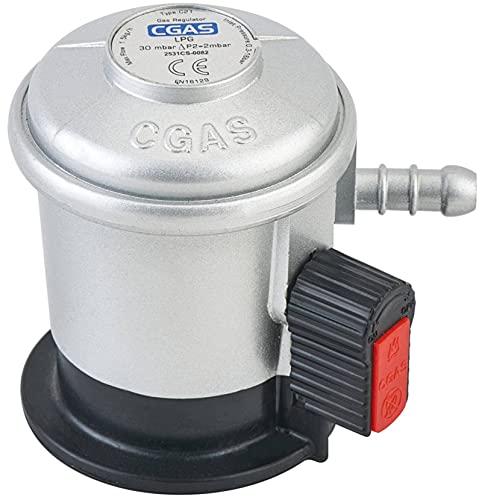 N\C Regulador de gas Jumbo para GLP, regulador de gas butano o propano, salida 8 mm, presión de salida 30 mbar