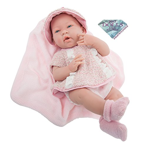 "Jc Toys La Born 15/"" Berenguer Real Girl Pink Polka Dot Baby Doll 18512 Perfect"