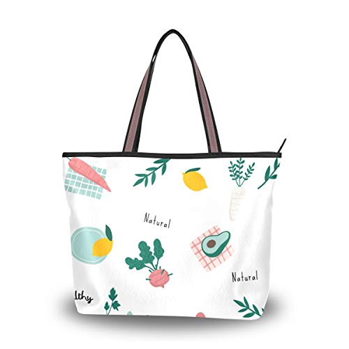 Amolily Damen Handtasche Stilvolle Geldbörse Casual Taschen Große Kapazität für Outdoor Shopping Arbeit Schule Reisen Business Einfacher nahtloser Druck, Mehrfarbig - mehrfarbig - Größe: Large