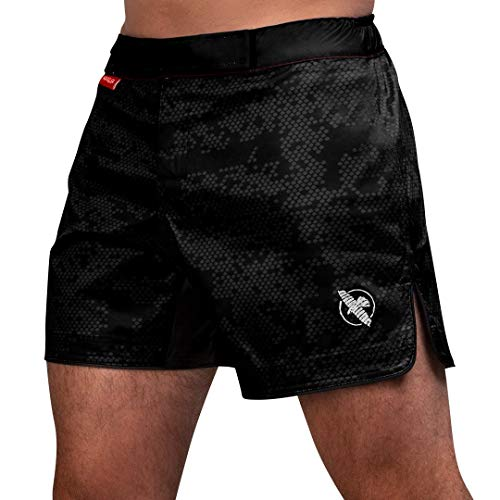 Hayabusa Hexagon Mid-Thigh Fight Short - Black, Large