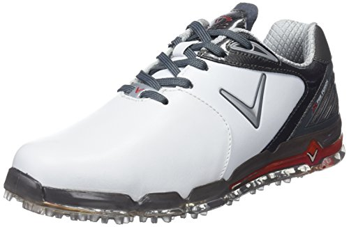 Callaway Herren Xfer Fusion Golfschuhe, Weiß/Grau (White/Grey), 44.5 EU