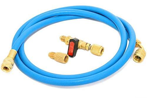 Füllset für Klimaanlage Kältemittel R410a - Ventil und Schlauch