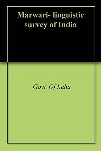Marwari- linguistic survey of India (English Edition)