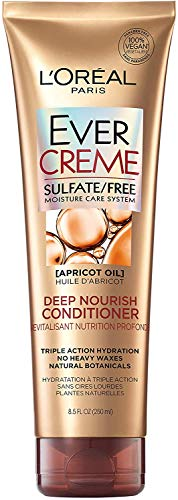 L'Oreal Paris EverCreme Deep Nourish Sulfate Free Conditioner, with Apricot Oil, 8.5 Fl. Oz (Pack of 1)