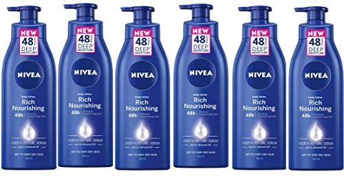 Nivea ricca crema corpo nutriente, 400ml, confezione da 6