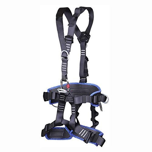 JTSYUXN Klettergurt Ganzkörper Baugeschirr,Baumkletterausrüstung Schutzausrüstung,Sicherheitsgurt Gurt Safety Absturzsicherung,für Bergsteigen Sportklettern Baumklettern Feuerwehr