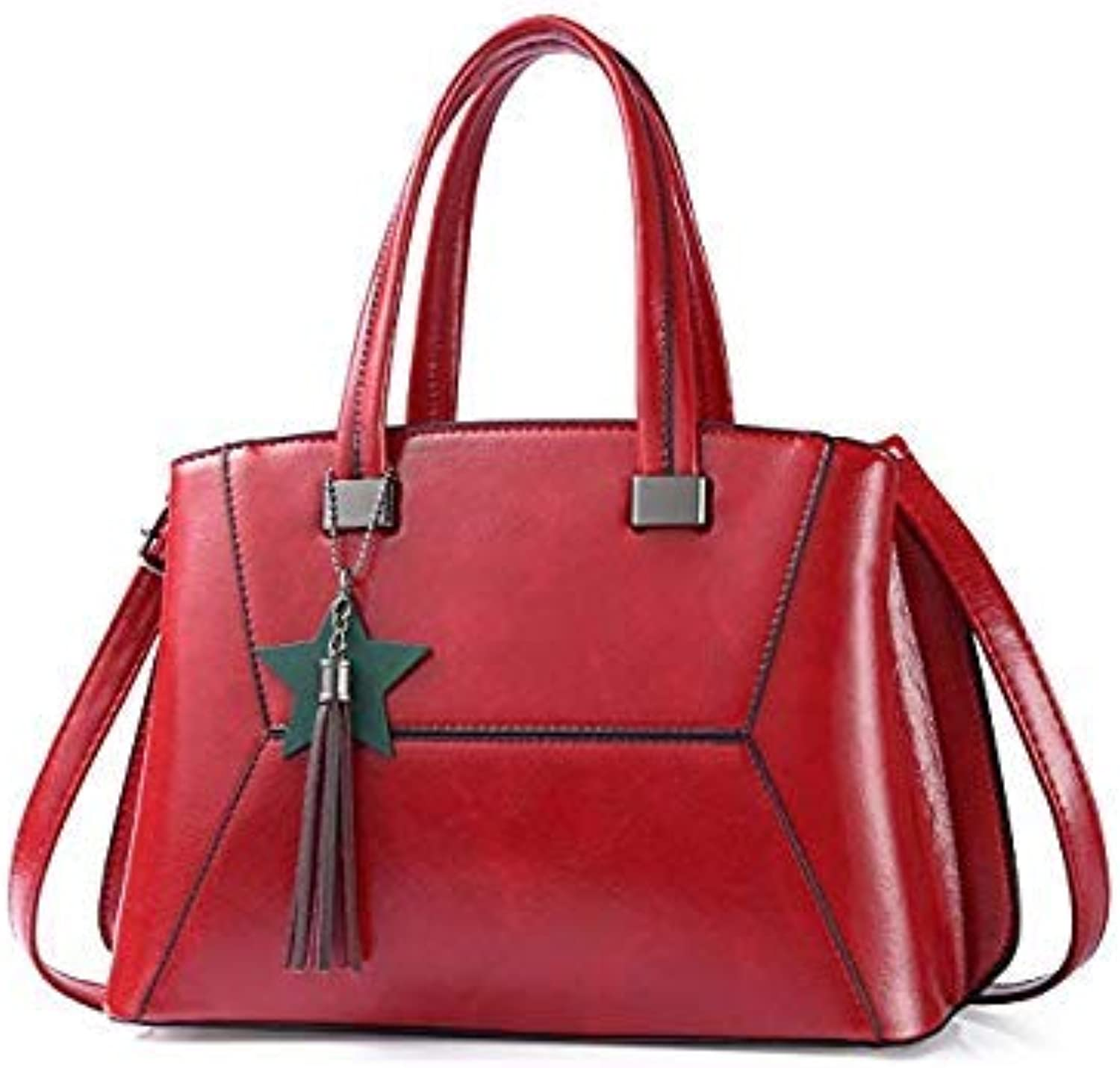 Bloomerang MIWIND Brand Handbags Women Leather Bag Woman Large Shoulder Bags Black Casual Tote Bag bolsos women TTY1286 color Red