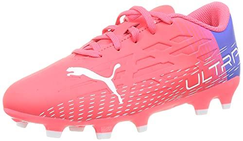 PUMA Ultra 4.3 Fg/Ag Jr, Zapatos de Fútbol Unisex-Niños, Rosa (Sunblaze), 35 EU