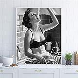 Danjiao Spaghetti Frau Print Pasta Moment Poster Vergaser