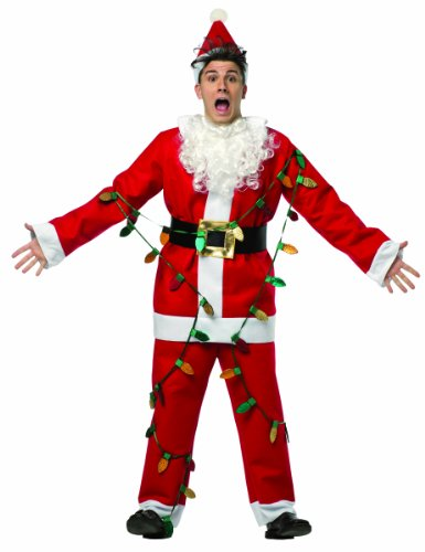Rasta Imposta Men's National Lampoon's Christmas Vacation Light Up Santa Suit, Red/White, One Size