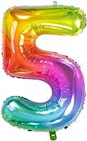 Folat 63245 folieballong Yummy gummy regnbåge nummer/nummer 5–86 cm