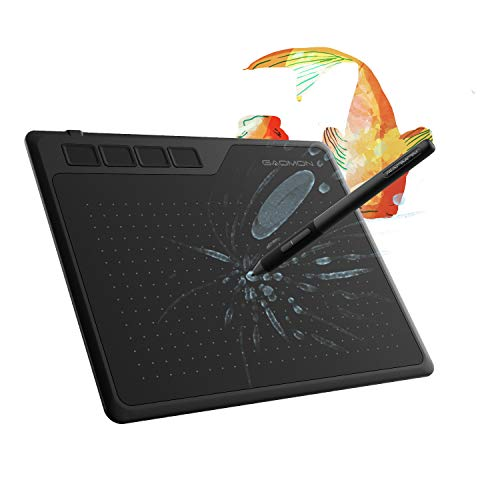GAOMON S620 OSU 6.5 x 4 Inch Graphics Tablet with 4 Express Buttons and 8192 Levels Pressure Sensitivity Pen