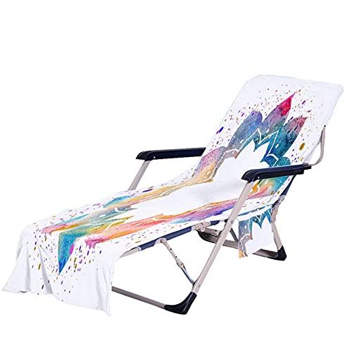Zarome Strandkorb Handtuch Lounge Chair Cover Mikrofaser Strandkorbbezug Mit Taschen Garten Handtuch Stuhl Strandtuch für meisten Freizeitstühle und Liegestühle Schwimmbäder Strände Garten wondeful