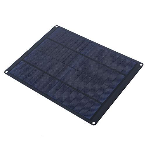 FTVOGUE Kit de Panel Solar de 10 W, Cargador de energía Solar portátil a Prueba de Agua, Panel fotovoltaico para Actividades al Aire Libre/emergencias - Negro