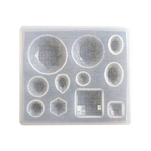 Pendientes de resina epoxi con forma de gotas de agua y colgante cuadrado
