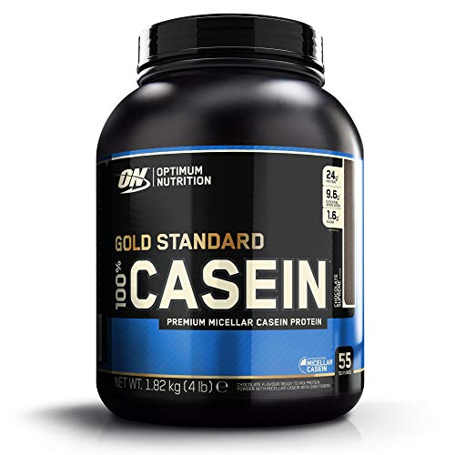 Optimum Nutrition ON 100% Gold Standard Casein, Protéine de Caséine en Poudre pour Musculation et Prise de Masse, Saveur Chocolat Suprême, 55 Portions, 1,82 kg