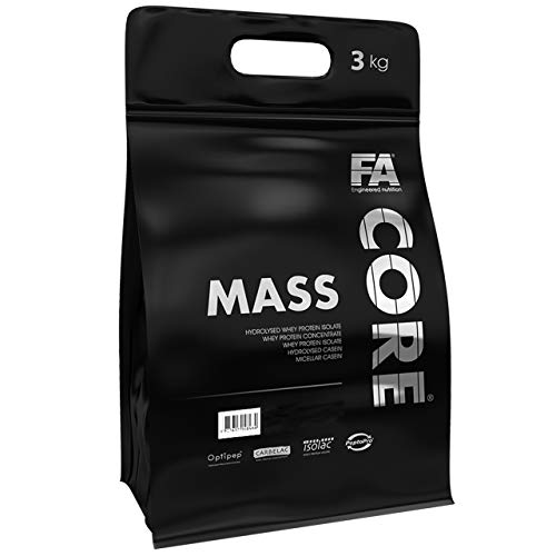 Fitness Authority MassCore Package of 1 x 3000g – Gainer – Protein Powder – Mass - Whey with Carb – Muscle – Pre Workout – FA Core Mass Gain – Energy – Weights (Vanilla Almond)