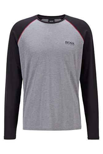 BOSS Herren Balance LS-Shirt RN Pyjama-Longsleeve aus Stretch-Baumwolle mit Modal