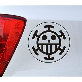 Amazon Com Ewdsqs One Piece Anime Decal Straw Hat Luffy Skull Car Window Sticker Set Of 2 4 5 X 4 5 Home Kitchen