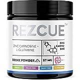 REZCUE Zinc Carnosine + L-Glutamine Drink Powder (120 Grams, 8.47 oz, 48 Servings)