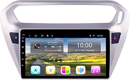 Navegador estéreo para automóvil compatible con Peugeot (301) 2014-2018 Reproductor multimedia resistivo digital con Bluetooth Mirror Link Contestador de llamadas Receptor de radio FM AM, 4core 4