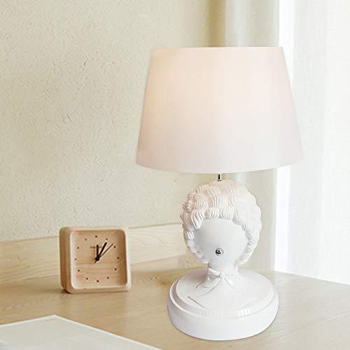 Hogreat Smart led Lámpara Blanco Lámpara de Mesa de Cabeza rizada 40 * 67cm Escritorio Sala de Estar Dormitorio Dormitorio Lectura Luz Resina Moderno Minimalista Creativo Ornamentos Decorativos