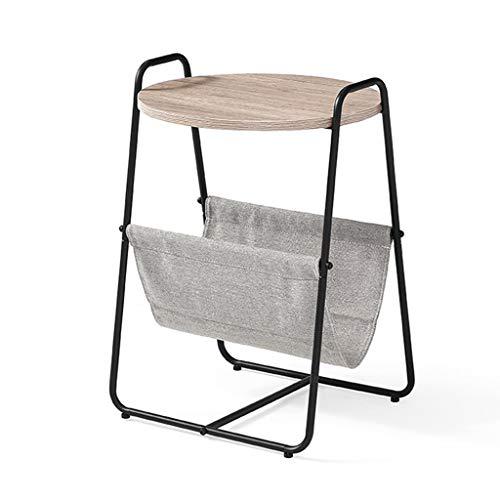 PHH Kleiner Couchtisch Balkon Kleinen Couchtisch Wohnzimmer Sofa Seitenschrank Nacht Kreative Beistelltisch Mini Einfacher Kleiner Runder Tisch (Color : Gray, Size : 45 * 45 * 66CM)