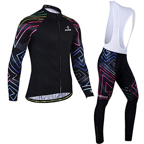 Cyclisme Costume Manches Longues Printemps et d'été Automne Hommes et Les Femmes Vélo Mountain Equipment Vélo Pantalons Strap Vêtements d'extérieur Respirant Séchage Rapide Sport (Size : 1-XXXL)