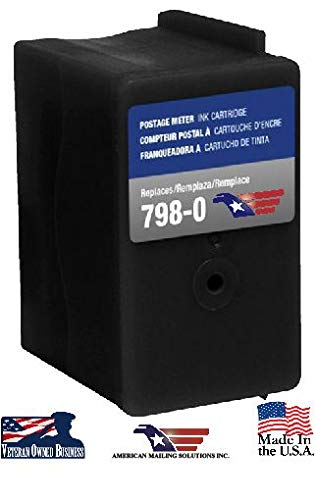 Pitney Bowes SendPro SL-798-0 Compatible Red Fluorescent Ink Cartridge