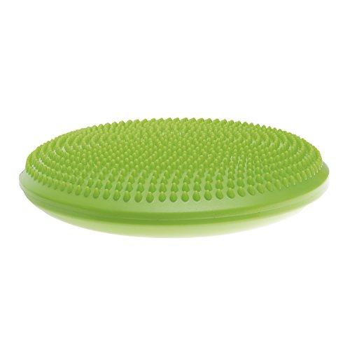 SPOKEY Fit Seat (Anti-rutsch Balance-Kissen Massagekissen Noppen Koordination Fußmassage + Up-schlüsselband), grün, One Size