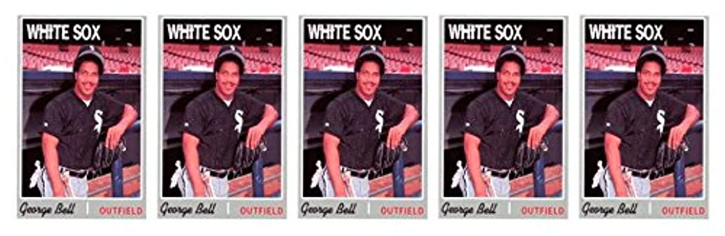 (5) 1992 Baseball Card Monthly #61 George Bell Baseball Card Lot White Sox