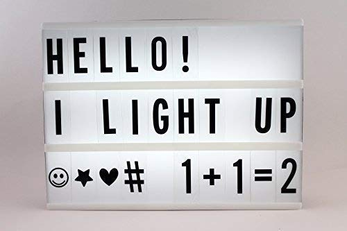 Light Up Your Life formato A4 Cinematic Letter Box con luce